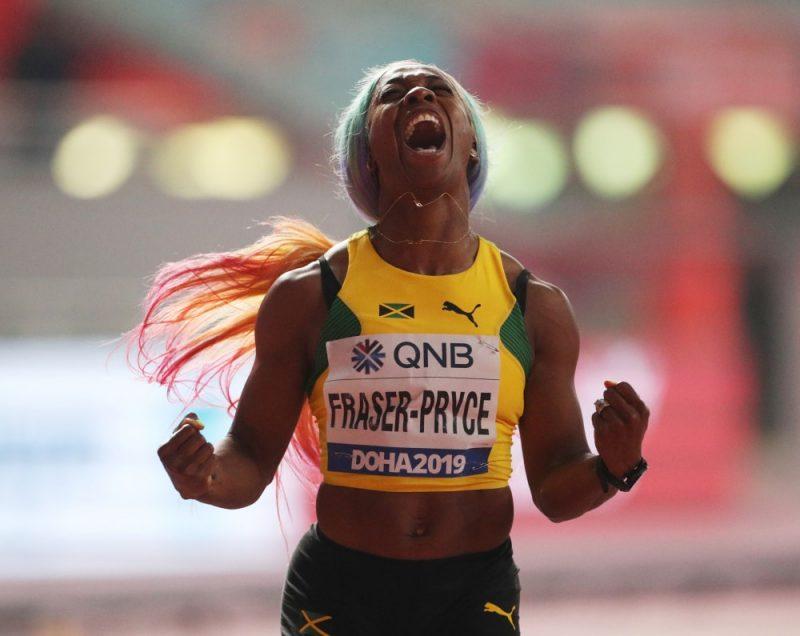 Titulētā Jamaikas sprintere Šellija Anna Freizere-Praisa svētdien Dohā pārliecinoši triumfēja pasaules čempionāta vieglatlētikā prestižajā 100 metru distancē, tiekot pie sava ceturtā zelta.