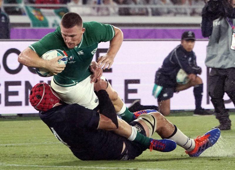 Īrija pret Skotiju Pasaules kausa izcīņas spēlē regbijā.