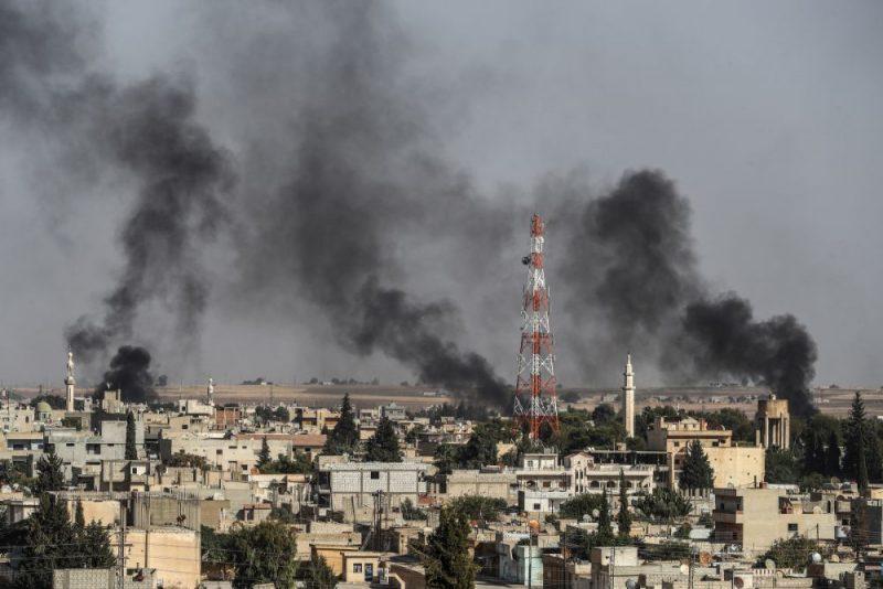 Turcija sākusi plašu uzbrukumu kurdu kontrolētajām teritorijām Sīrijas ziemeļaustrumos, 10.10.2019.
