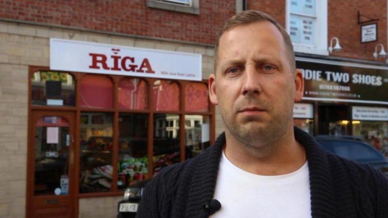 Uldis Osis Anglijas pilsētā Regbijā ir atvēris latviešu pārtikas produktu veikalu.