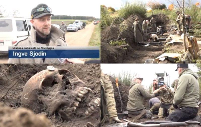 Kurzemes mežos meklē karā kritušo karavīru mirstīgās atliekas .