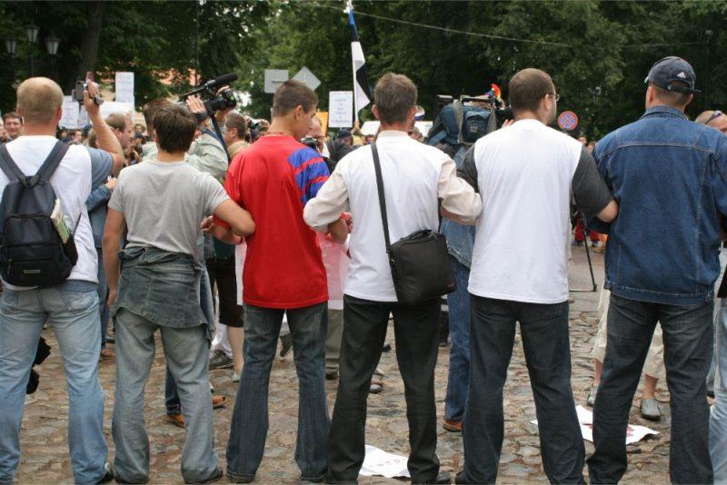 Protests pret seksuālo minoritāšu gājienu. Ilustratīvs foto
