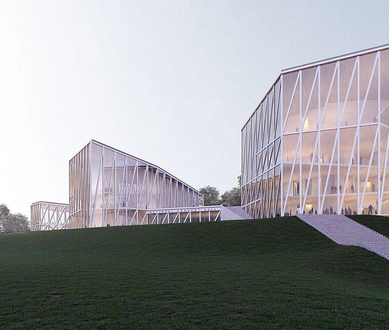Žūrija īpaši izcēla pirmās vietas ieguvēju ideju par trīsdaļīgo vizuālo sadalījumu – celtnes vidējā daļa ir veidota kā atsauce uz vairāk nekā simt gadus seno Tautas nama projektu.