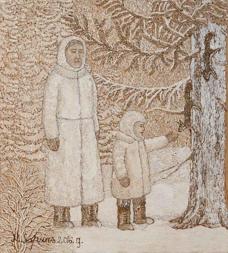 """Modris Sapuns, """"Ziemas māte""""."""