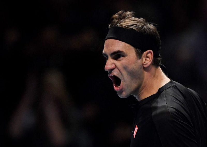 """Rodžers Federers iekļuvis """"ATP Finals"""" turnīra pusfinālā."""