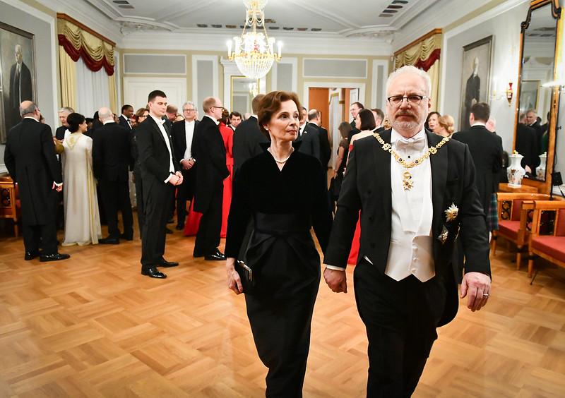 Latvijas Republikas proklamēšanai veltīta pieņemšana Rīgas pilī 2019. gada 17. novembrī.