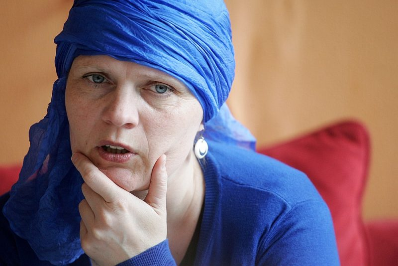 "Franciska Ermlere: ""Mana romāna pamatā, protams, ir Jēkaba Kazāka ""Bēgļi""."""