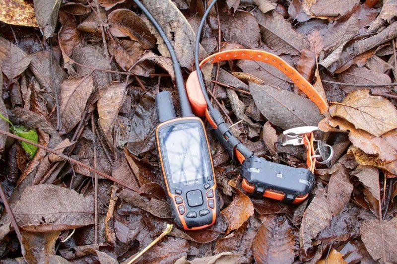 'Garmin' ir ļoti uzticams rīks medību suņa izsekošanai. Komplektā – siksna un navigators.