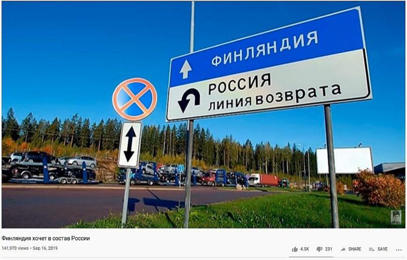 """Krievijas ziņu medijs """"Pravij bereg"""" apgalvo, ka Somija gribot būt Krievijas sastāvā."""