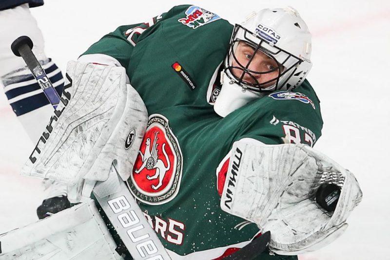 """Timurs Biļalovs Kazaņas """"Ak Bars"""" vārtos laboja KHL rekordu, """"sausā"""" paliekot 316 minūtes un  deviņas sekundes."""