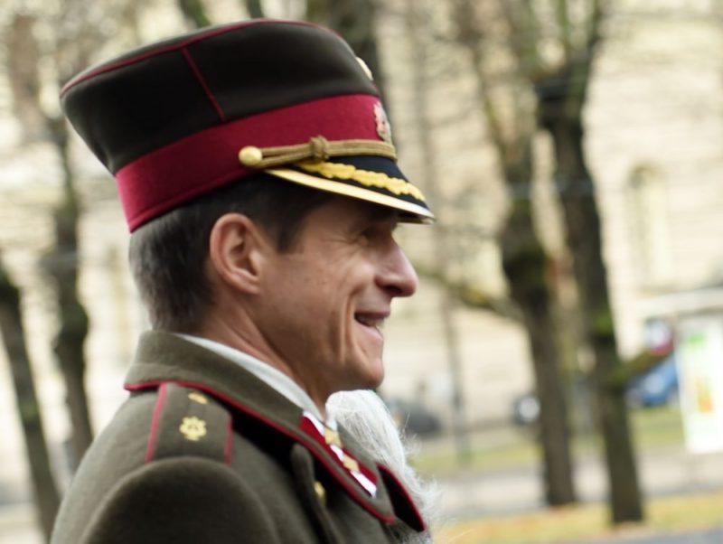 Nacionālo bruņoto spēku orķestra pulkvežleitnants Dainis Vuškāns 2015. gada novembrī.