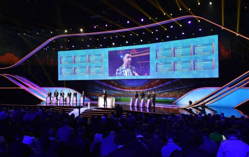 Eiropas čempionāta finālturnīra izlozes ceremonija Bukarestē.