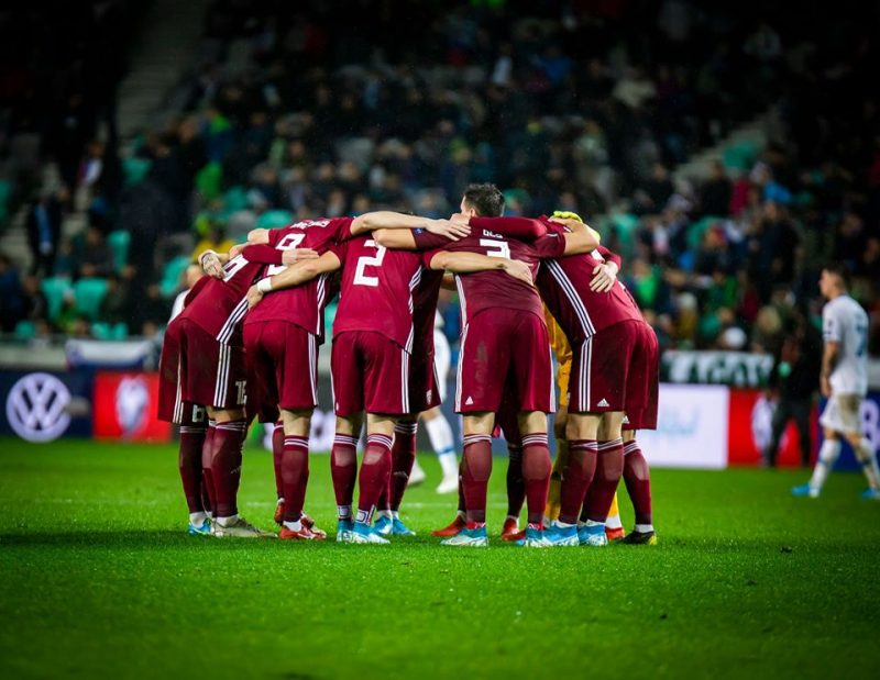 Latvijas futbola izlase.
