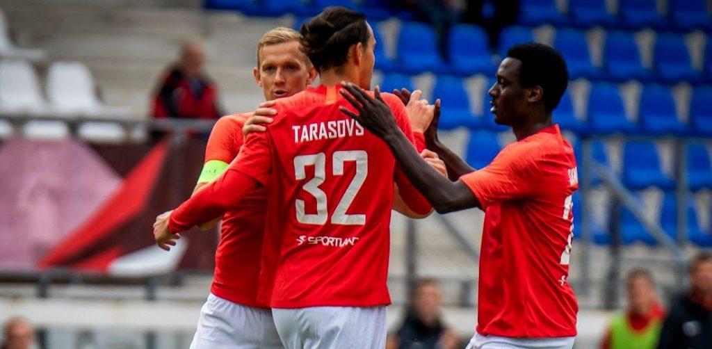 """Jūrmalas """"Spartaks"""" līdz pēdējai k""""artai saglabā intrigu cīņā par ceļazīmi uz UEFA Eiropas līgas kvalifikāciju."""