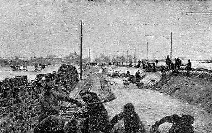 Zemes darbi uz Raņķa dambja topošajā Uzvaras parkā 1923. gadā.