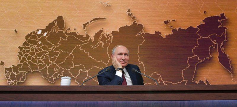 Ikgadējā V. Putina televīzijas preses konference.