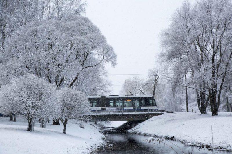 Tramvajs Rīgā.