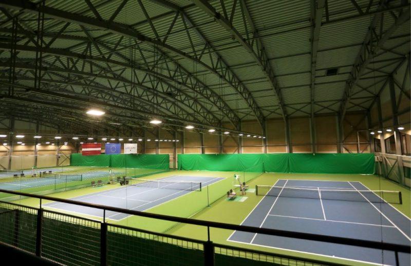 """Pārbūvētais tenisa centrs """"Lielupe""""."""