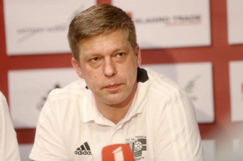 Latvijas handbola izlases galvenais treneris Armands Uščins.