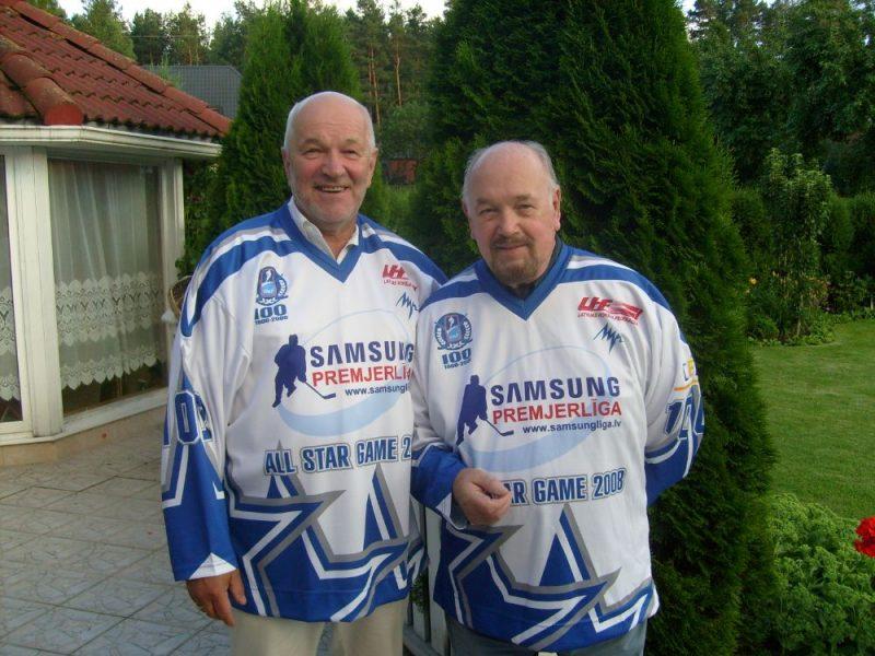 Ēvalds Grabovskis (pa kreisi) un Haralds Norītis.
