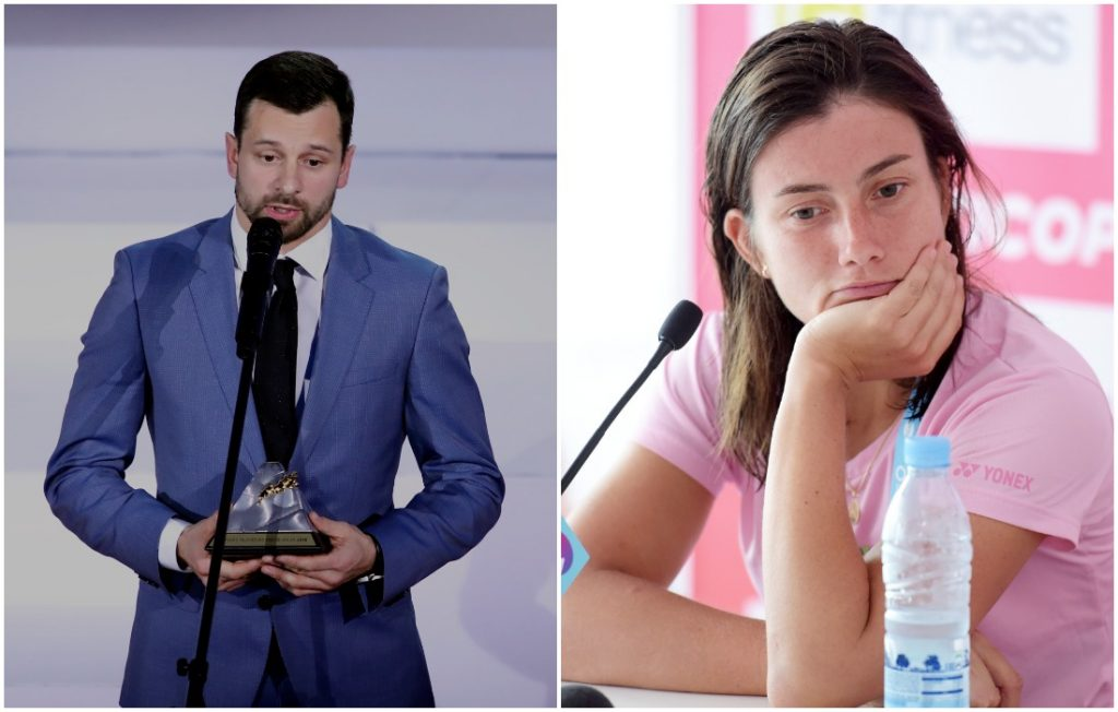 Latvijas gada sportisti – Martins Dukurs un Anastasija Sevastova.