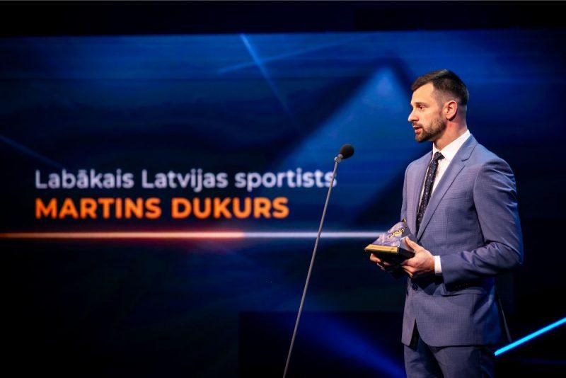 Martins Dukurs sesto reizi saņēmis Latvijs gada labākā sportista balvu.