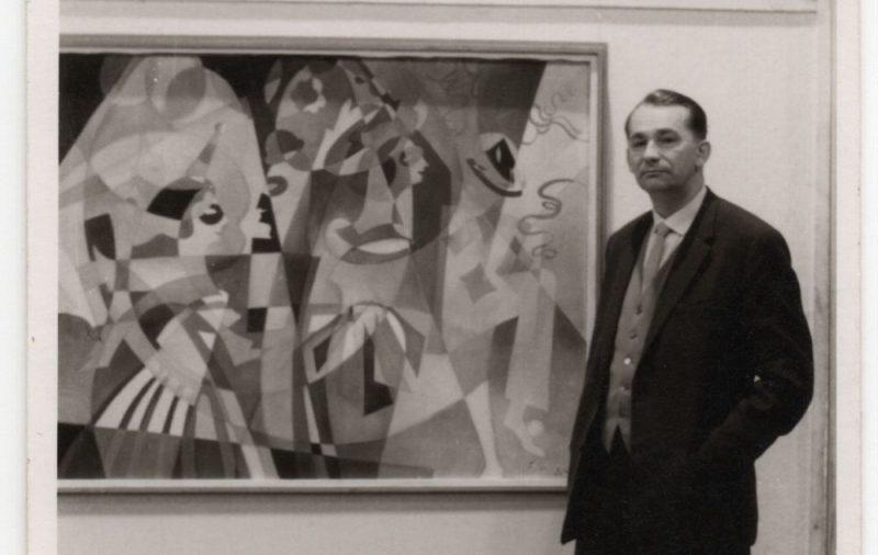 Juris Soikans pie sava darba. Dortmunde. 1961. gads.