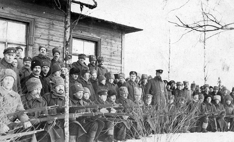 Latvijas armijas karavīri Latgales frontē 1920. gada sākumā.