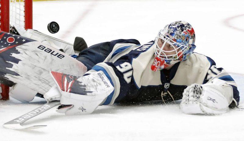 Elvis Merzļikins NHL čempionātā izcīnījis piecas uzvaras pēc kārtas.