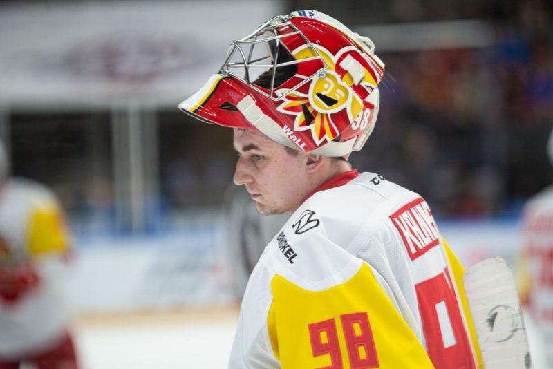 Jānis Kalniņš šosezon KHL ir uzvarām bagātākais vārtsargs.