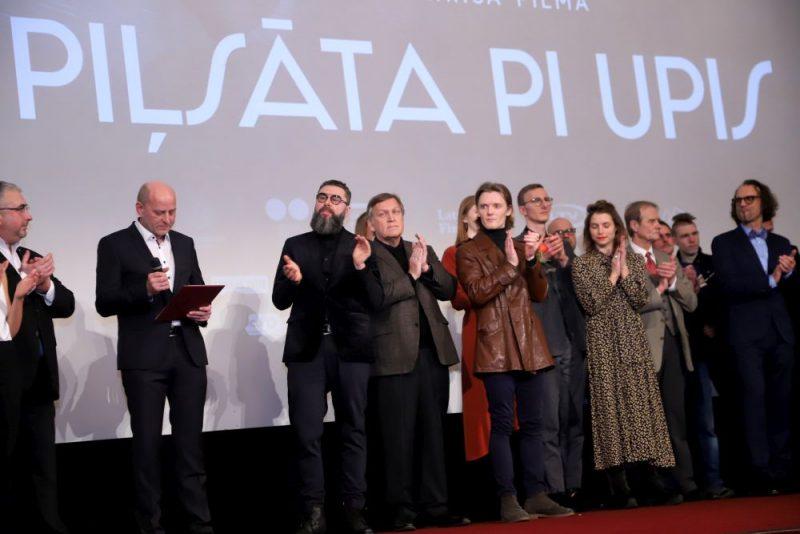 """Filmas """"Piļsāta pi upis"""" Rīgas pirmizrāde."""
