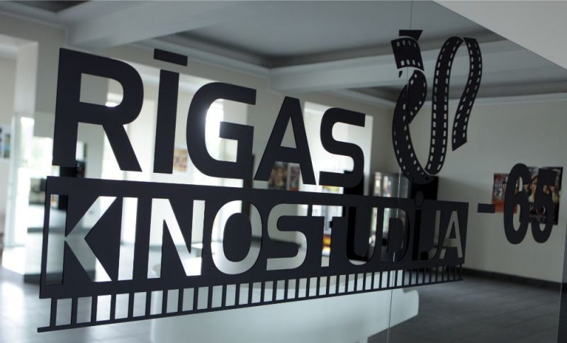 Rīgas kinostudija 65 gadu jubilejas dienā.