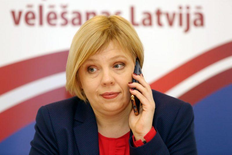 Centrālās vēlēšanu komisijas (CVK) priekšsēdētāja Kristīne Bērziņa.
