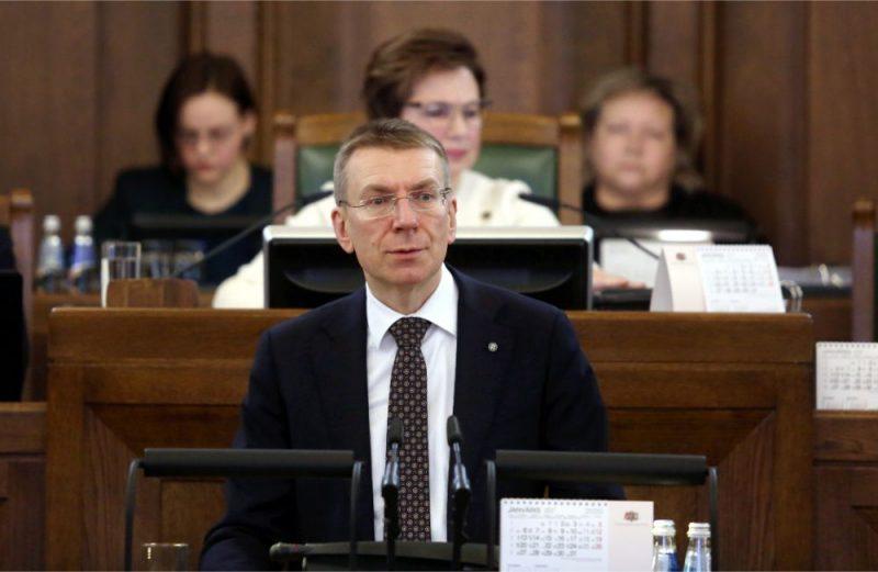 Ārlietu ministrs Edgars Rinkēvičs Saeimas sēdē sniedz ikgadējo ziņojumu par paveikto un iecerēto darbību valsts ārpolitikā un Eiropas Savienības jautājumos, 23.01.2020.