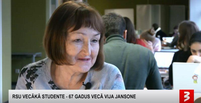 Vija Jansone pensijas vecumā studē RSU.