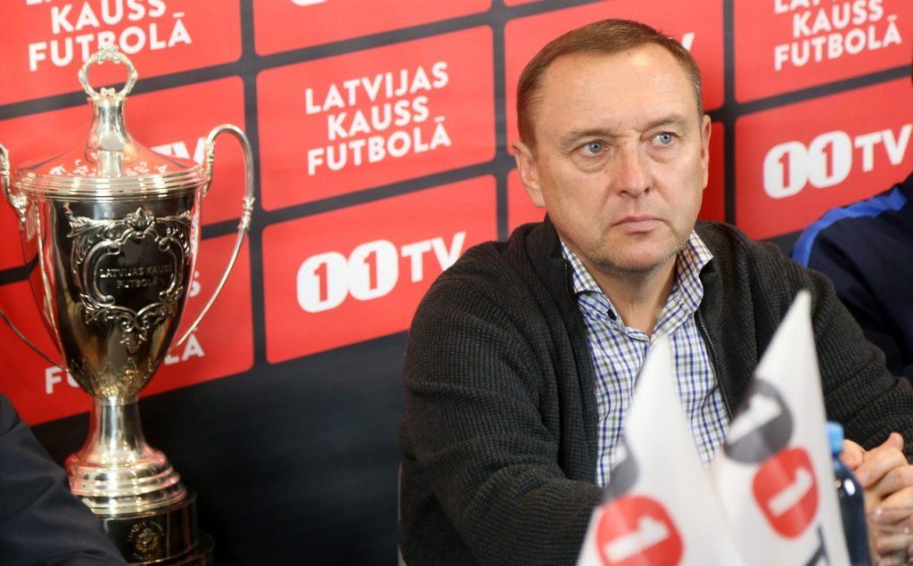 """FK """"Jelgava"""" galvenais treneris Oļegs Kubarevs."""