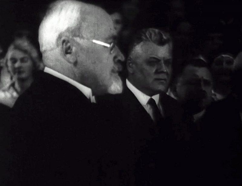"Filma ""Lāčplēsis"" ar G. Zemgalu un K. Ulmani."