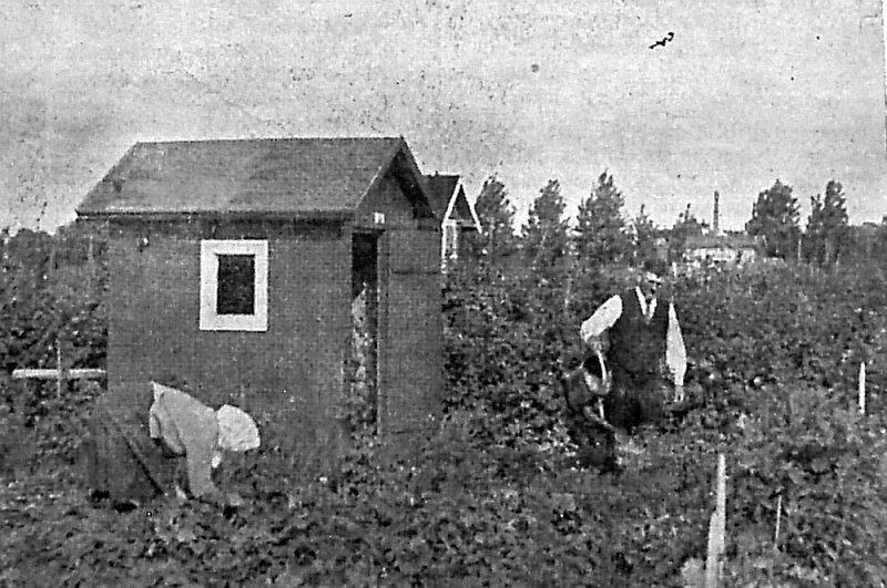 Rīgas mazdārziņā 20. gs. 20. gados.