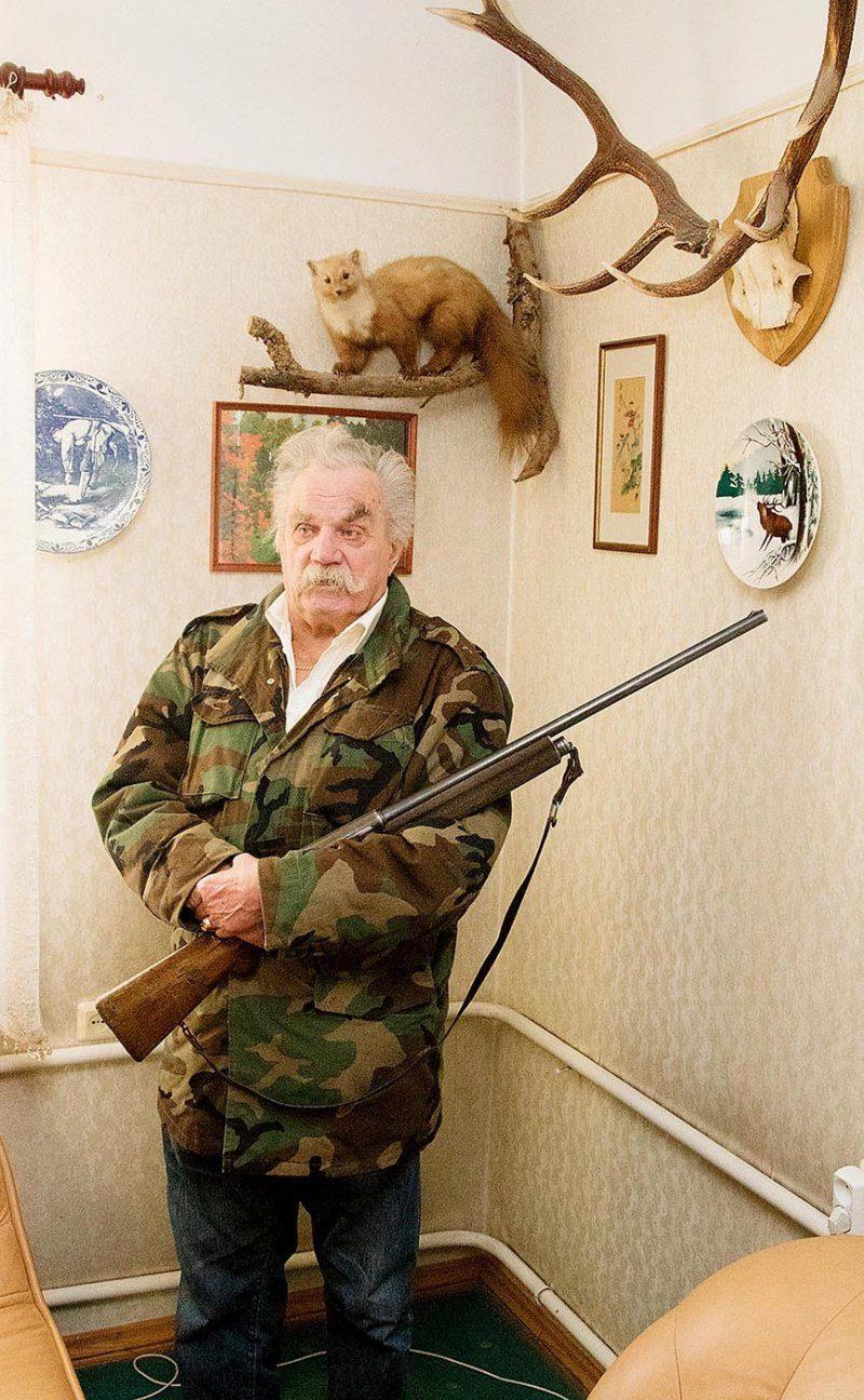 Dainis Rengarts medībās dodas ar 120gadīgu bisi.