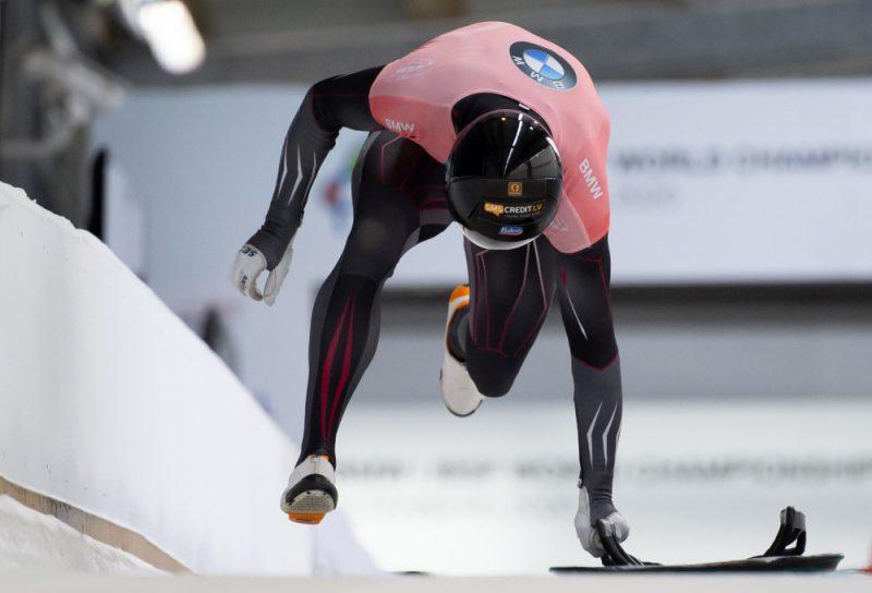 Martins Dukurs pasaules čempionātā Altenbergā.