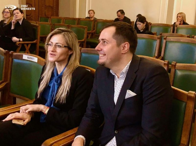 Ieva Kalderauska un Jānis Eglītis šodien Saeimā ievēlēti NEPLP padomē, 13.02.2020.
