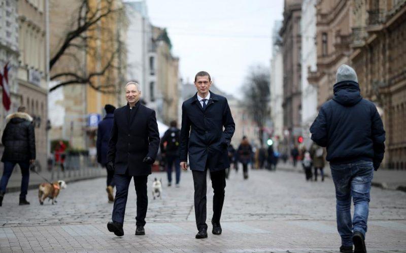 Jānis Bordāns (no kreisās) un Juris Jurašs