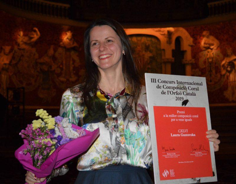 Komponiste Laura Gustovska.