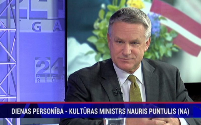 Kultūras ministrs Nauris Puntulis.