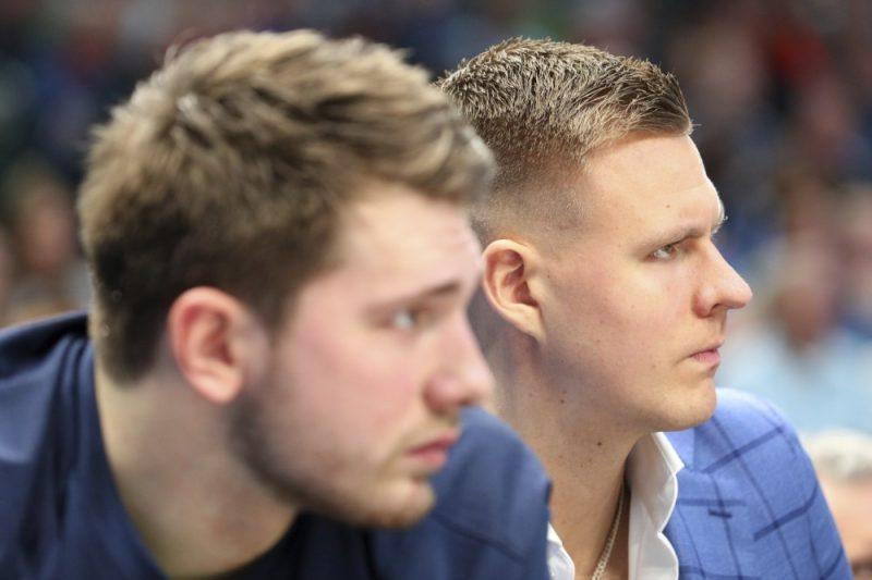 Luka Dončičs un Kristaps Porziņģis