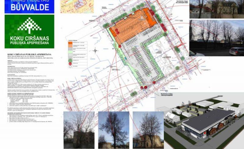 """Āgelnskalna iedzīvotāji Rīgā iebilst pret """"Lidl"""" veikala būvniecību Kalnciema ielā 38 esošā plānojumā."""