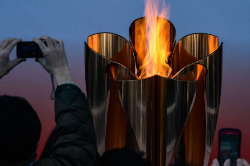 Olimpisko spēļu uguns.
