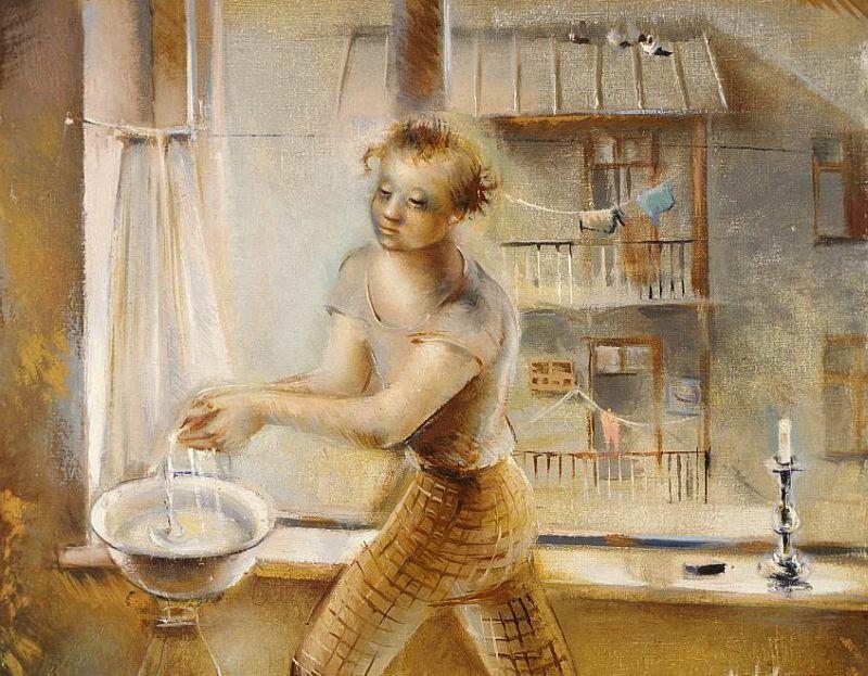 """Karīna Lutsa, """"Aktrise"""". 1937. gads. No Igaunijas Mākslas muzeja krājuma."""