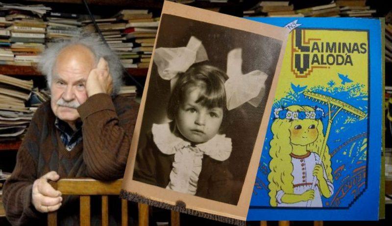 """Grāmatu """"Laimiņas valoda"""", dzejoļi no kuras ir iekļauti skolas mācību grāmatās, tēvs ir veltījis savai meitai Laimai."""