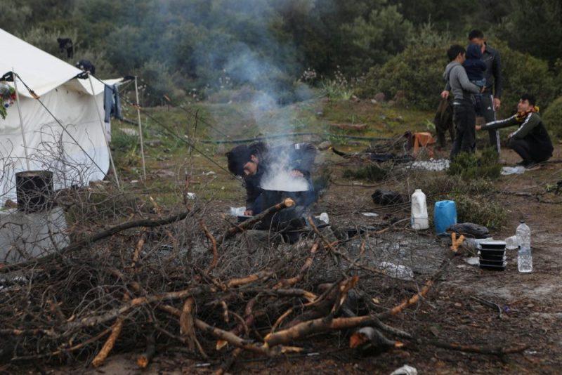 Migranti Lesbas salā Grieķijā